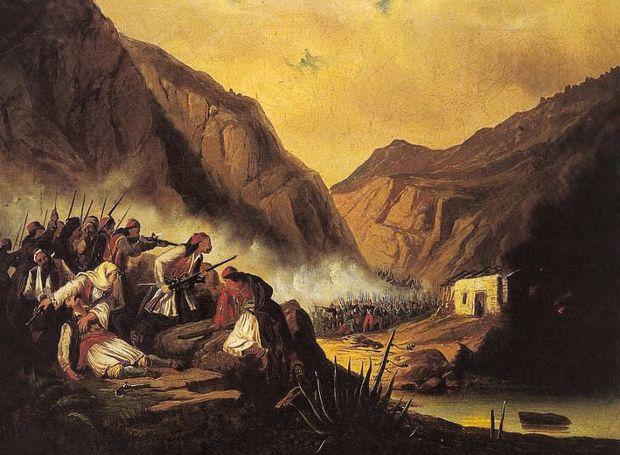 Μάχη στα στενά των Δερβενακίων (πίνακας του Θ. Βρυζάκη)
