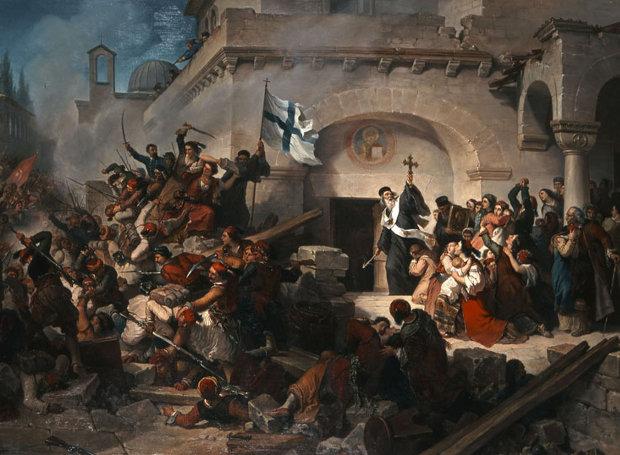 Ελαιογραφία του ιταλού ζωγράφου Γκαττέρι